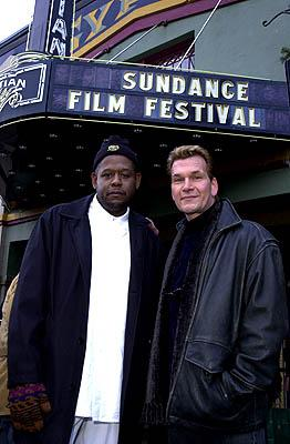 Forest Whitaker and Patrick Swayze of Green Dragon Sundance Film Festival Day 3 Park City, Utah 1/20/2001