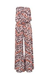 dots animal print jumpsuit