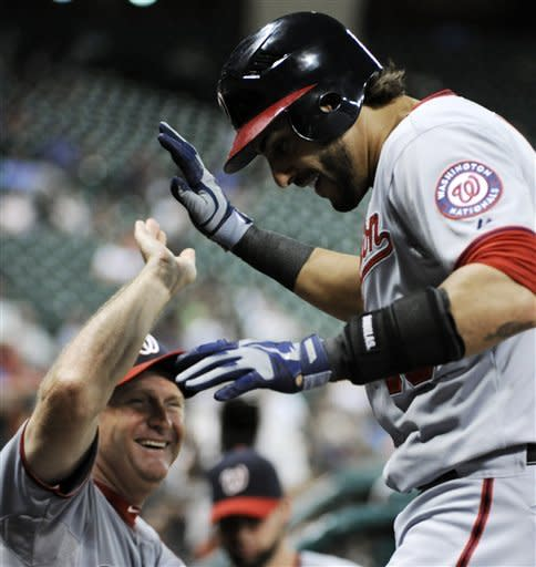 Morse homers twice, Nationals beat Astros 5-0