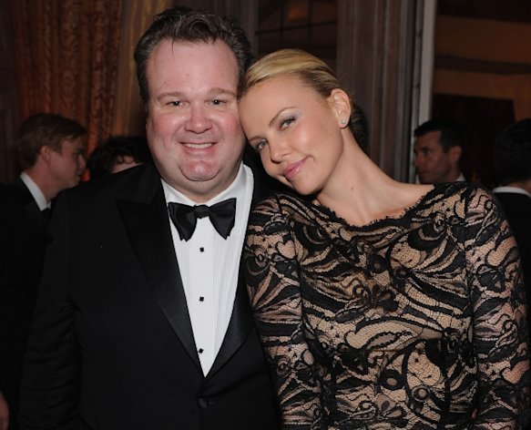 Eric Stonestreet and Charlize Theron attend the Bloomberg & Vanity Fair cocktail reception following the 2012 White House Correspondents&#39; Association Dinner at the residence of the French Ambassador in Washington, DC on April 28, 2012  -- Getty Premium
