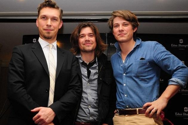 """Isaac, Zac, and Taylor Hanson of the band Hanson during the press conference of their """"Shout It Out"""" concert on March 30 at the Smart Araneta Coliseum in Quezon City and March 31 at the Waterfront Hotel in Cebu. (George Calvelo/NPPA Images)"""