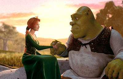Princess Fiona ( Cameron Diaz ) has a deep, dark secret she's hiding from the ogre Shrek ( Mike Myers ) in Dreamworks' Shrek