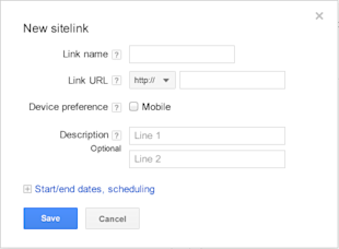 How To Get Even More Google Sitelinks! image create new google sitelink