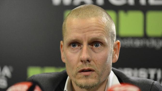 Former Rabobank and Christina Watches rider, Michael Rasmussen, speaks at a press conference in Herning, Denmark, Thursday Jan. 31. 2013. In the latest doping scandal to hit the sport of cycling since Lance Armstrong's confession earlier this month, Danish rider Michael Rasmussen admitted on Thursday that he took performance-enhancing drugs for more than a decade. Rasmussen said he took everything from testosterone and growth hormones to blood transfusions from 1998-2010 in an effort to boost his performance. The 38-year-old Dane said he would quit the sport immediately and cooperate with anti-doping agencies. (AP Photo/Polfoto, Claus Bonnerup) DENMARK OUT