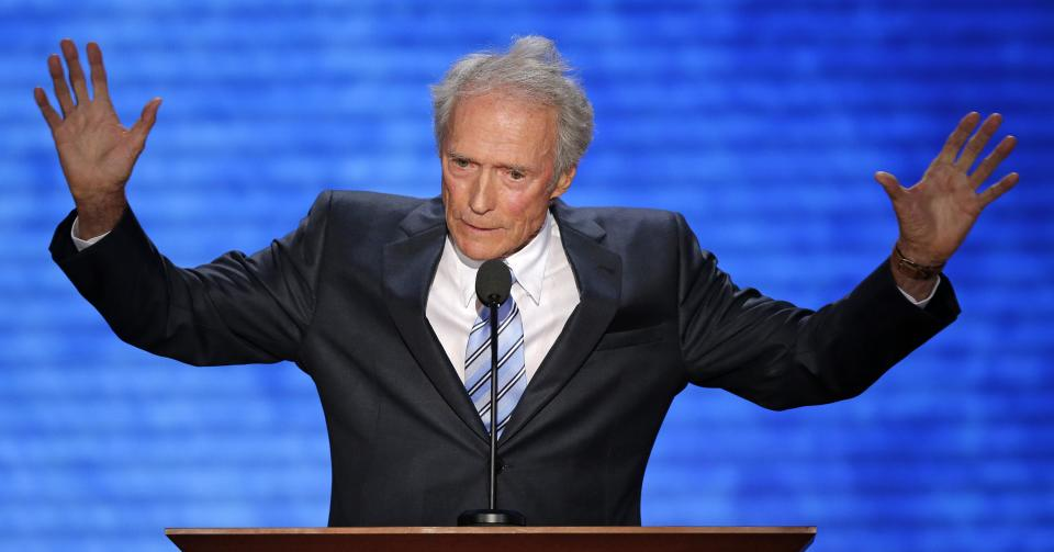 Actor Clint Eastwood addresses the Republican National Convention in Tampa, Fla., on Thursday, Aug. 30, 2012. (AP Photo/J. Scott Applewhite)