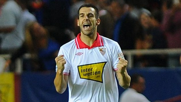 Sevilla forward Alvaro Negredo