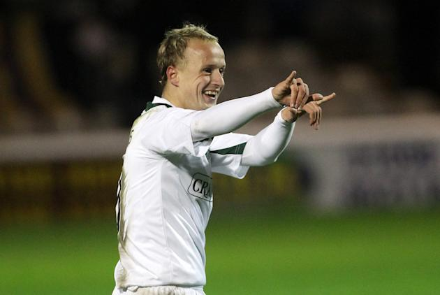 Hibernian striker Leigh Griffiths is on loan from Wolves