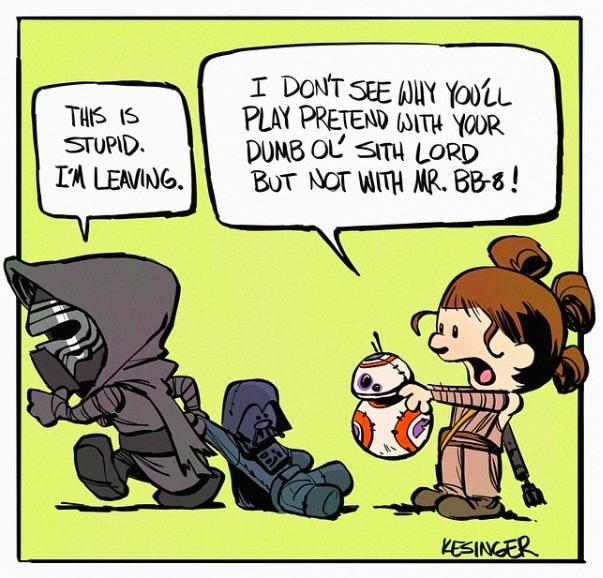Kylo and Hobbes: Check Out This New Batch of Adorable 'Star Wars' Cartoons