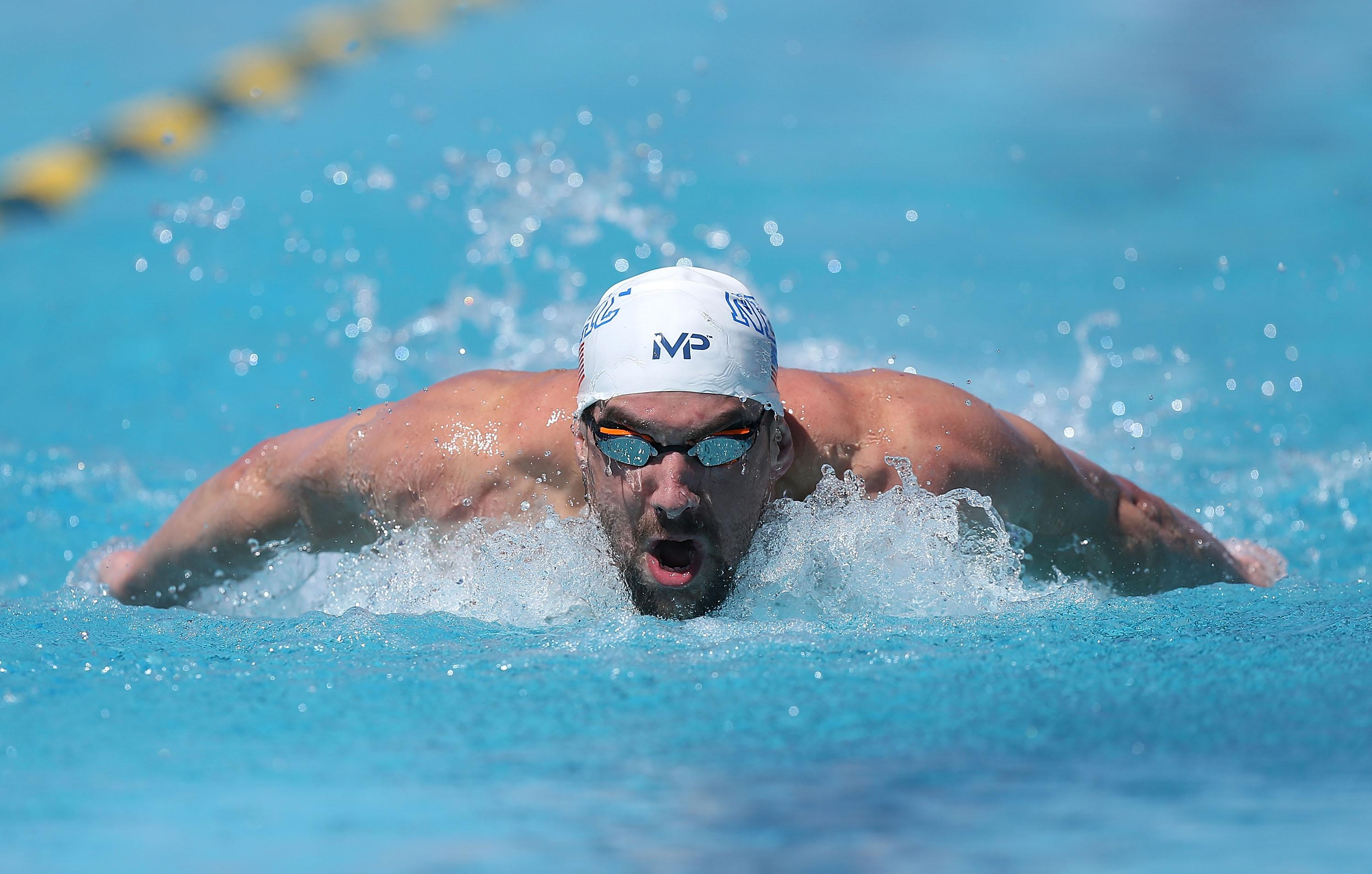 Phelps fastest in return to racing