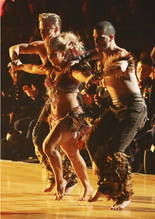 Derek Hough, Shawn Johnson and Mark Ballas (11/12/12)