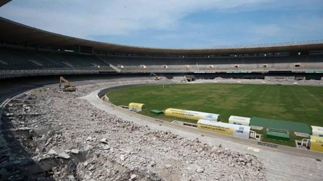 Brazil World Cup 2014 Maracana stadium refurbishment