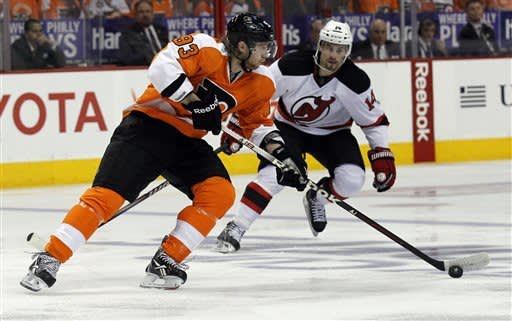Briere nets winner, Flyers edge Devils in OT, 4-3