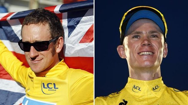 Bradley Wiggins 2012 / Chris Froome 2013 (Reuters)
