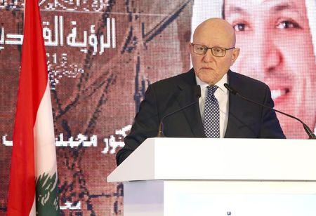 Lebanon's Prime Minister Tammam Salam speaks during the Annual Arab Banking Conference in Beirut, Lebanon