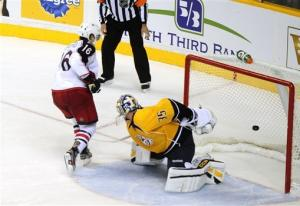 Blue Jackets beat Predators 3-2 in shootout