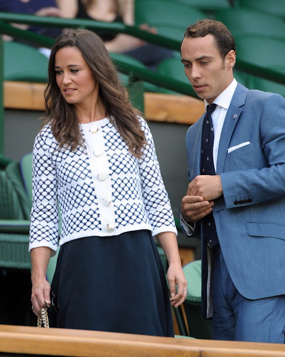 Pippa Middleton and her brother James at the Wimbledon Tennis Championships, London, UK