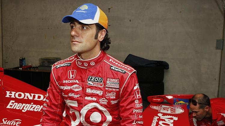 COMMERCIAL IMAGE - In this photograph released on Friday, May 25, 2012 by Banana Boat via AP Images, four-time IndyCar Champion driver Dario Franchitti helped introduce new Banana Boat® Sport Performance® CoolZone™ sunscreen as part of a larger partnership between Banana Boat® Sun Care and Target Chip Ganassi Racing Teams in Indianapolis, Indiana. (Phillip Abbott/AP Images for Banana Boat)