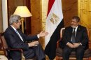 U.S. Secretary of State John Kerry meets with Egyptian President Mohamed Mursi in Addis Ababa