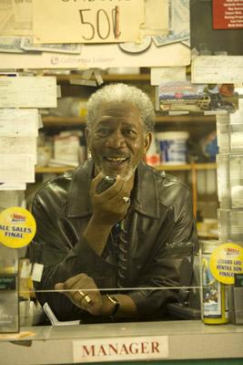 Morgan Freeman in THINKFilm's 10 Items or Less