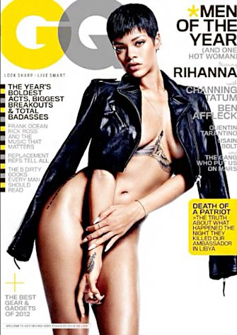 PICTURE: Rihanna Poses Nude on GQ&#39;s &quot;Men of the Year&quot; Issue