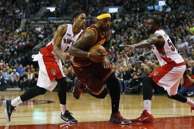 Watch LeBron James shut the door on the Raptors' comeback