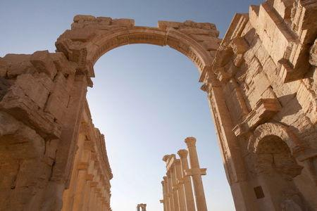 Ruins are pictured in the historical city of Palmyra