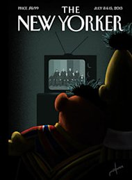 New Yorker cover featuring Bert and Ernie (art: Jack Hunter)