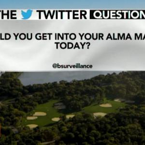Could You Get Into Your Alma Mater Today?