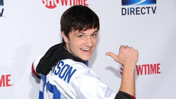 Josh Hutcherson arrives at DIRECTV's Seventh Annual Celebrity Beach Bowl, on Saturday, Feb. 2, 2013 in New Orleans. (Photo by Evan Agostini/Invision/AP)