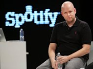 Spotify co-founder Daniel Elk speaks at a Spotify event in New York City on December 6, 2012. Music sales in Sweden rose last year thanks to the growing popularity of music streaming service Spotify, the country's music industry body said, offering hope to a sector battered by file-sharing