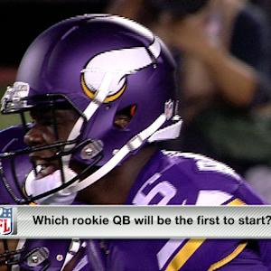 Which rookie QB is first to start?