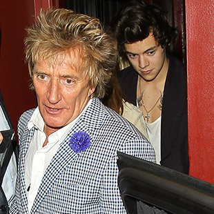 Rod Stewart and Harry Styles