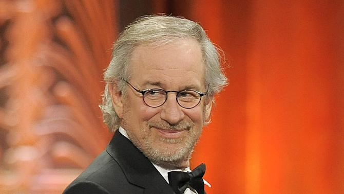 """FILE - This June 7, 2012 file photo shows director Steven Spielberg at the AFI Life Achievement Award Honoring Shirley MacLaine at Sony Studios in Culver City, Calif.  Spielberg was nominated  for an Academy Award for best director on Thursday, Jan. 10, 2013, for """"Lincoln.""""  The 85th Academy Awards will air live on Sunday, Feb. 24, 2013 on ABC.  (Photo by Chris Pizzello/Invision/AP, file)"""
