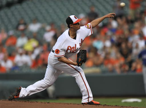 Chen, Reimold carry Orioles past Rangers 6-1
