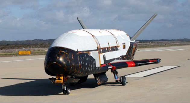 This undated file image provided by the U.S. Air Force shows the X-37B spacecraft. The unmanned Air Force space plane steered itself to a landing early Saturday, June 16, 2012, at a California militar