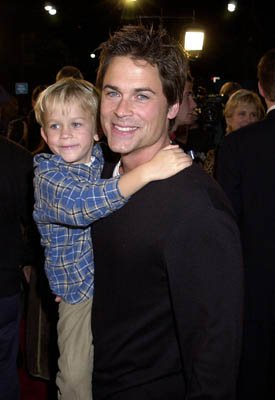 Premiere: Rob Lowe and son at the Westwood premiere of Warner Brothers' Harry Potter and The Sorcerer's Stone - 11/14/2001