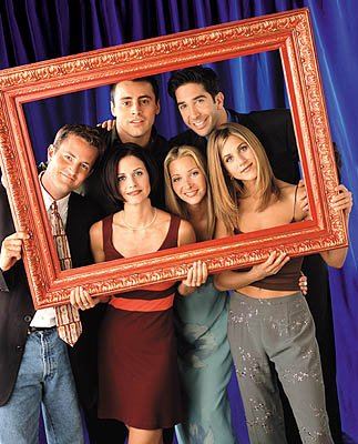 Matthew Perry, Matt LeBlanc, Courteney Cox, Lisa Kudrow, David Schwimmer and Jennifer Aniston in NBC's Friends