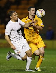 Jamie Murphy&#39;s, right, Motherwell contract expires at the end of the season