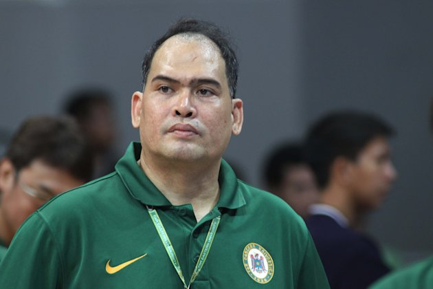 FEU Coach Bert Flores after the Tamaraws were ousted by La Salle. (NPPA Images)