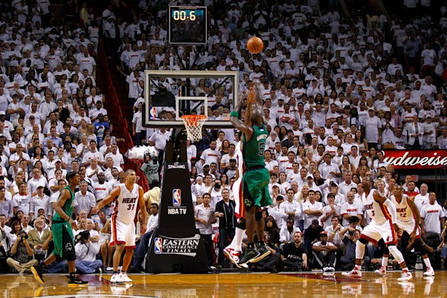 Kevin Garnett #5 Of The Boston Celtics Attempts Getty Images