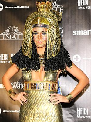 Heidi Klum Wears Cleopatra Costume, 100s of Face Crystals at Haunted Holiday Party