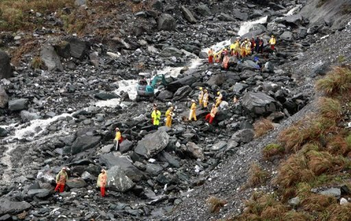 <p>Rescuers search debris after a mudslide in Taiwan in 2010. Taiwan has mobilised its drones, which were introduced to the army earlier this year, for the first time to survey natural disasters, local media reported Sunday. The drones were sent to monitor flash floods and mudslides sparked by a monsoon last week.</p>