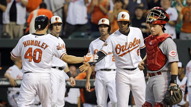 Orioles beat Reds 9-7 to complete 3-game sweep