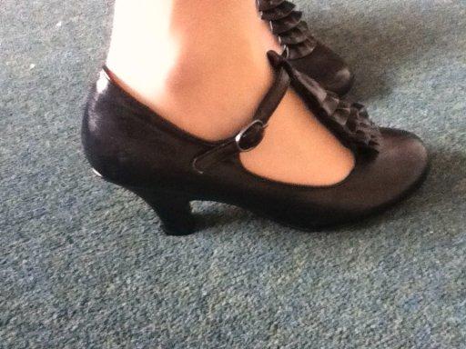 Black vintage heels.
