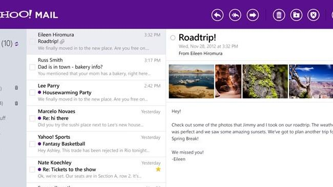 Yahoo Mail gets a Gmail-like revamp for Windows 8, iOS and Android