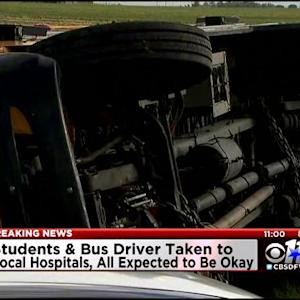 Kids Hurt In Waxahachie ISD Bus Crash