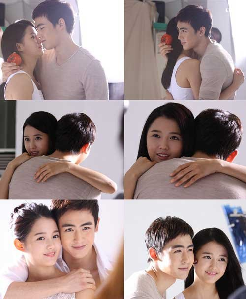 2PM's Nichkhun and Nam Bo Ra Hug it Out for 'It's Skin'