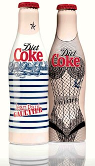 Diet Coke's Jean Paul Gaultier bottles revealed