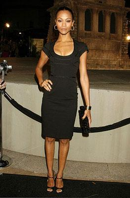 Zoe Saldana at the Los Angeles premiere of Paramount Pictures' Cloverfield
