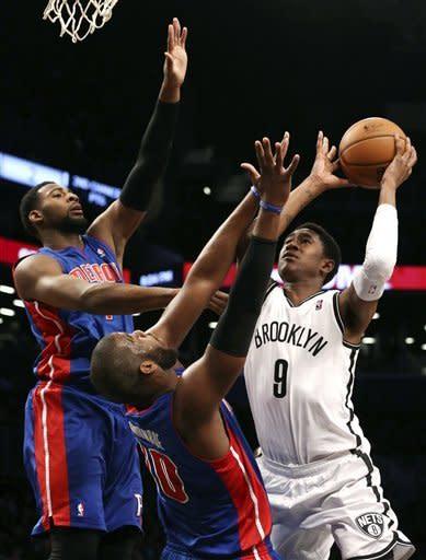 Nets beat Pistons in 2 OTs on Johnson's jumper